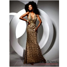 Tony Bowls Animal Print Prom Dress